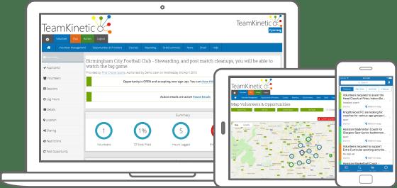 FREE volunteer management software, TeamKinetic WORKS to build